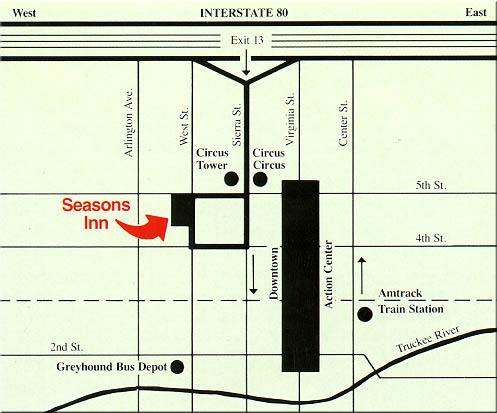Seasons Inn location map